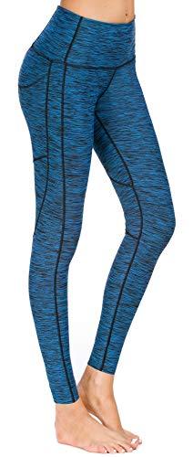 Flatik Flatik Damen Blickdichte Leggings HosenYoga Leggings Sporthosen für Damen Elastische Leggings Sporthosen(Blau S)
