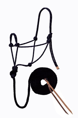 Weaver Leather Diamond Braid Rope Halter and Lead, Black