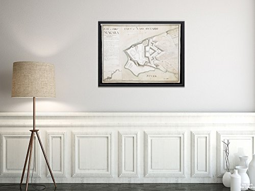 Map New York|Niagara|Old Fort Niagara Plan of Fort Niagara with its Buildings & outworks Relief|Historic Antique Vintage Reprint|Ready to Frame