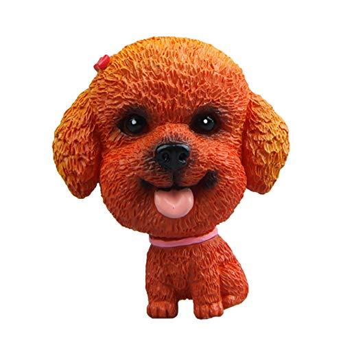 Bonito modelo de perro para frigorífico, imán de muñeca, adhesivo magnético para frigorífico, adhesivo para pizarra, mensaje para decoración del hogar (B, 6 x 4 x 3 cm)