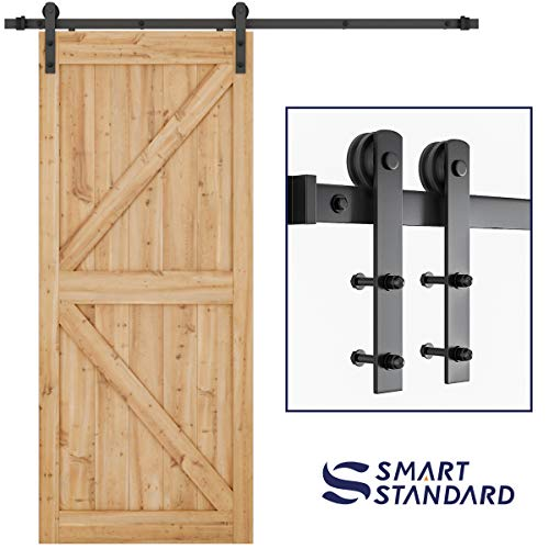 Sliding Door Door Handle Heavy Duty Carbon Steel Vintage High Hardness Sliding Barn Door Closet Pull Handle Wooden Gate Hardware,Durable and Sturdy for Wooden Gate etc Black