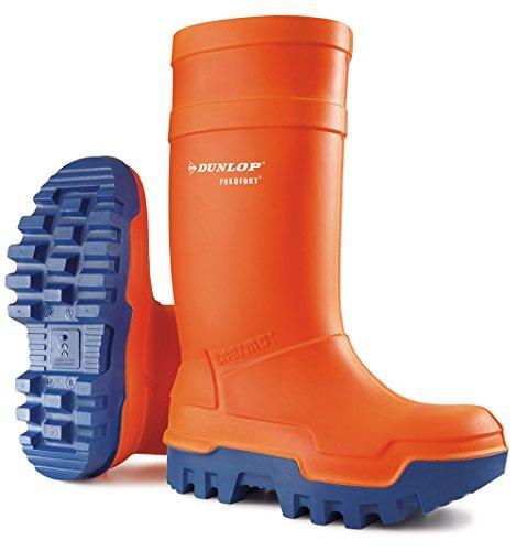 Dunlop Protective Footwear Purofort Thermo+ full safety Unisex-Erwachsene Gummistiefel, Orange 46 EU
