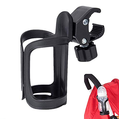Stroller Cup Holder, Universal Baby Bottle Pram Organiser Adjustable Pushchair Cup Holder Drink Coffee Cup Holder for Baby Accessories, Baby Buggy