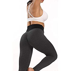 2 Pack TIK Tok Leggings, Butt Lift Leggings for Women, Women Yoga Pant High Waisted Butt Lifting Bubble Hip Lift