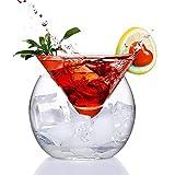 ERTERT Innovador Partido Helado Helado Cono Martini Bola de Vidrio Set Bar Bar Molecular Copa de cócteles Taza Smoothies Tazas (Capacity : 250ml and 750ml, Color : Martini Glass Set)