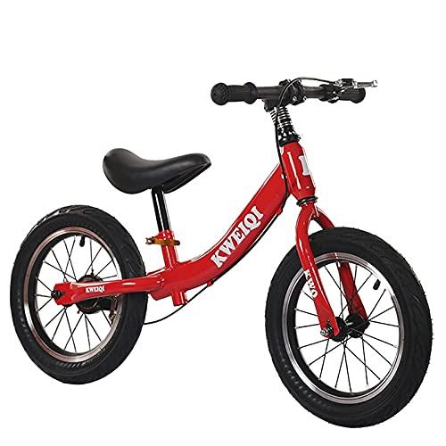 ASDF Balance Bikes Bicicleta de Equilibrio roja para niños de 2 años, Bicicleta para niños pequeños de 16 Pulgadas con Frenos, Bicicleta de Equilibrio para niños/niñas Regalos de cumpleaños