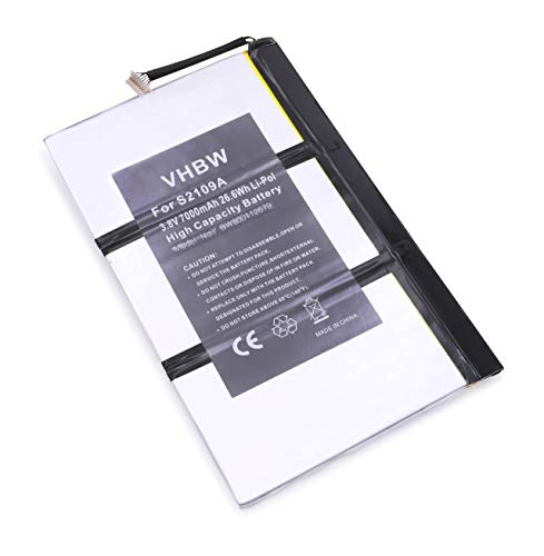 vhbw Li-Polymer Akku 7000mAh (3.7V) für Tablet Netbook Pad Medion LifeTab P9516, S9512 wie 11S73041798, 40042073, u.a.
