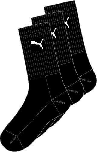 Puma Sports Socks - Calcetines de deporte para hombre, color negro, talla 43-46, 3 unidades