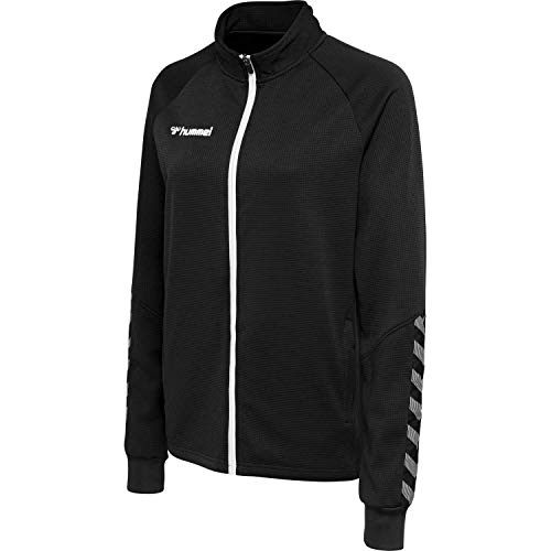 hummel Damen hmlAUTHENTIC Women Poly Zip Jacket Jacke, Black/White, M