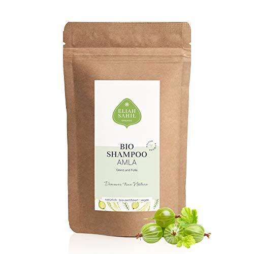 AMLA Bio Shampoo Nachfüllpackung Re-Fill Bag 250 Gramm von ELIAH SAHIL Bio zertifiziertes Pulvershampoo Umweltfreundlich und Biologisch abbaubare Verpackung Anti Haarausfall Anti Graue Haare