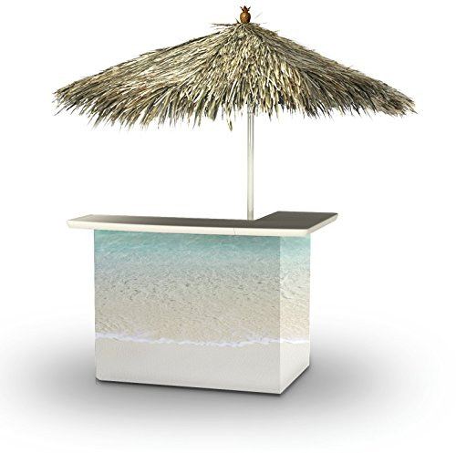 Best of Times 2001W2300P Island Life-PALAPA Portable Bar and 8 ft Tall Square Umbrella, One Size, Blue