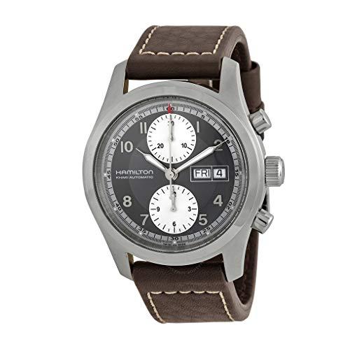 Hamilton Hamilton kaki Campo Nero Quadrante Cronografo Mens Orologio H71566583