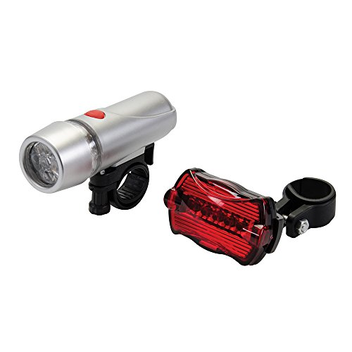 Silverline 912132 LED Bike Lights Front & Rear 2-Piece Set