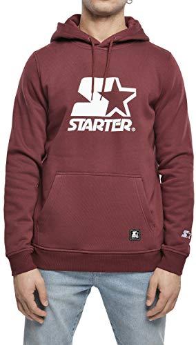 STARTER BLACK LABEL Mens Starter The Classic Logo Hoody Hooded Sweatshirt, Oxblood, L