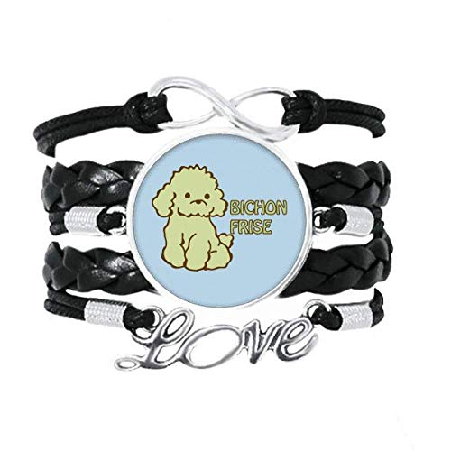 OFFbb-USA Bichon pelo de mascotas cría art decó regalo pulsera de moda amor accesorio trenzado cuerda de tejer pulsera regalo