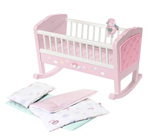 Zapf Creation 703236 Baby Annabell Sweet Dreams Wiege Puppenwiege mit automatischer Schaukelfunktion und Melodie, Puppenzubehör für Puppen bis ca. 43 cm