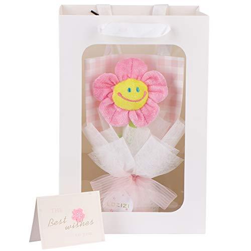 LOZIZI スマイルフラワー韓国 ぬいぐるみ花束 花束ギフト 花 造花 ギフト 贈り物 誕生日プレゼント 人気 女性 友達 子供 記念日 入園祝い 卒業祝い 母の日ギフト