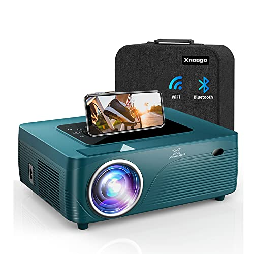 """5G WiFi Bluetooth Mini Projector 4k with 450"""" Display ,9600Lux 1080P Projector for Outdoor Movies,4P/4D Keystone Support 4k&Dolby&Zoom,Portable Wireless Home & Outdoor Projector for iOS/Android/PS4"""