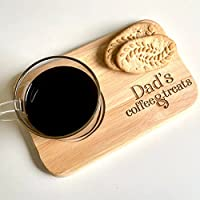 Dad's coffee and treats engraved board/Personalised tea & biscuits board/Gift for birthday, new home, anniversary/Tea,...