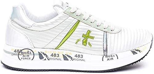 PREMIATA Sneaker Donna Modello CONNY4509 in Pelle. Colore Grigio chiaro 39