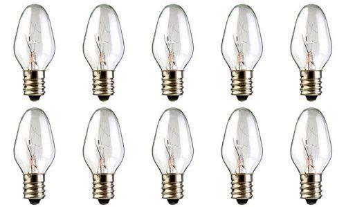 4Pack 15 Watts Replacement Bulbs for Plug-in Nightlight Warmer Wax Diffuser 15W