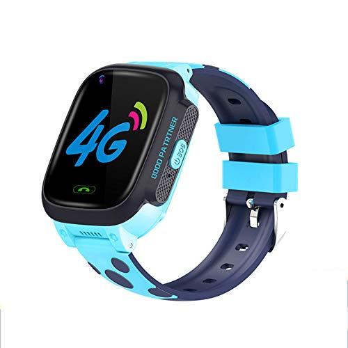 Smartwatches Orologi Intelligenti, Orologi da Telefono Impermeabili 4G, Orologi da Videotelefono WiFi, Braccialetti di Posizionamento per Bambini, Regali per Ragazzi E Ragazze Rosa Blu