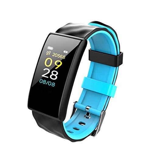 Alvnd Smart-armband, 1 inch oled, hartslagfrequentie, bloeddruk, zuurstof, calorieënmonitor voor iOS en Android, fitness, stappenteller, informatie sportarmband, A
