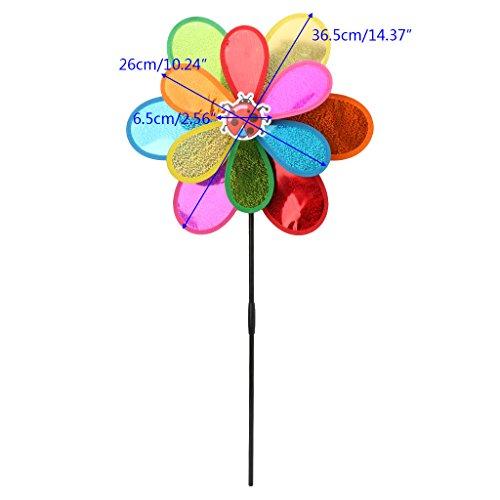 WuLi77 Girandola a doppio strato, con paillette fai da te, decorazione per giardino, cortile, feste