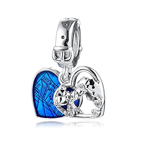 Pandora 925 plata esterlina colgante DIY Qandocci señora corazón granos se adapta para pulseras collares joyería encantos
