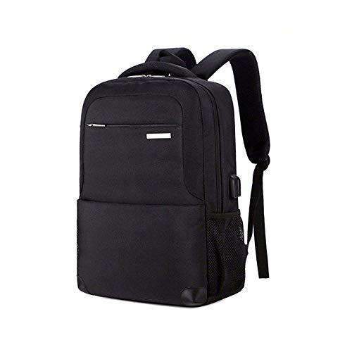 ノートパソコン用のバッグ ヘッドフォンジャック学生のパッケージを充電ビジネスカジュアルコンピュータのバックパック防水盗難防止用USB (色 : Black, サイズ : L)
