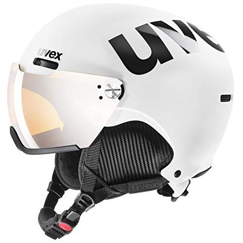 uvex Unisex– Erwachsene hlmt 500 Visor Skihelm, White-Black mat, 55-59 cm