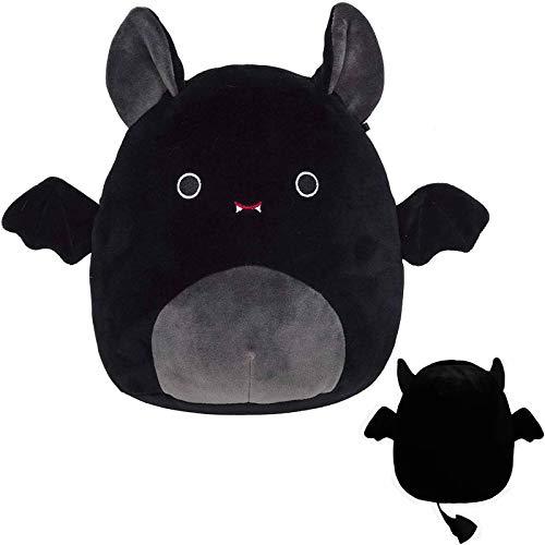 Halloween Stuffed Bat , Shimigy Soft Plush Animal Doll Little Lovely Fat Demon Ornaments Party Favor Home Decrorations Accompany /Birthday Gift for Girl Boy Preschool (Black, 12in)