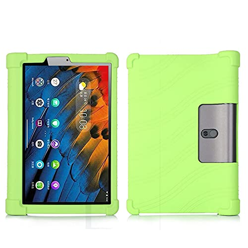 YHFZR Funda para Lenovo Yoga Pad Pro 13, Silicón Ligera Carcasa Antideslizante con Soporte para los niños para Lenovo Yoga Pad Pro 13' YT-K606F, Verde