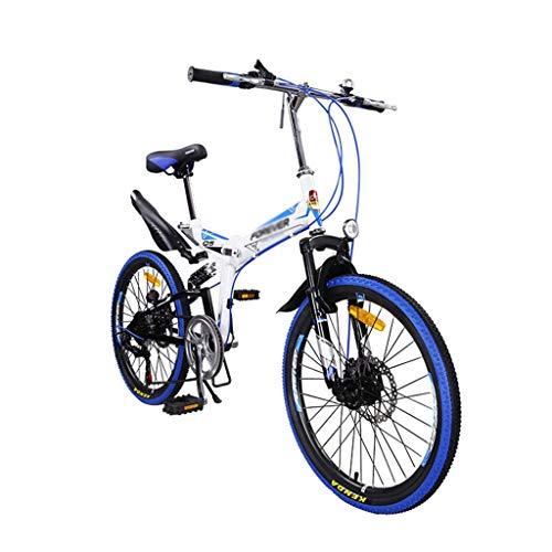 22in bicicleta de montaña plegable for adultos, unisex al