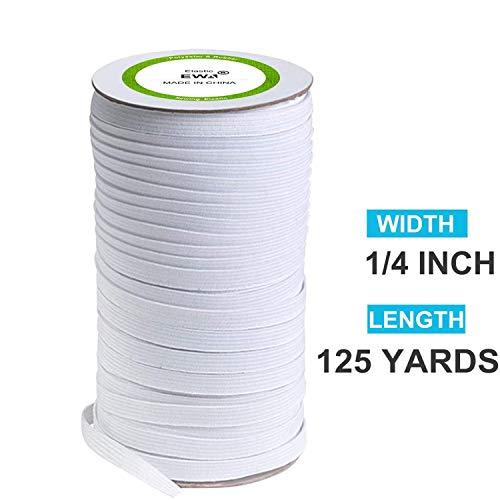 "New soft 10 yards 2/"" Knit Knitted Elastic White banding strap belt strap"