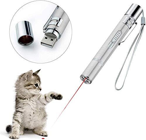 Katzenspielzeug set, Queta LED Pointer Katzen Hund Spielzeug Haustier Interaktives Spielzeug für Katzen und Hunde mit USB-Direktladung