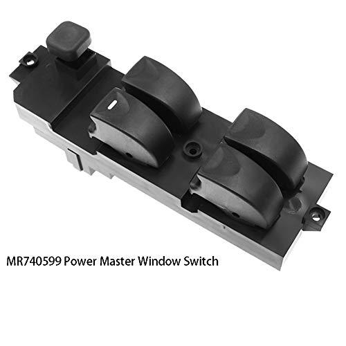 MR792845 Auto Master-Schalter für Fensterheber Steuerknopf Fit für Carisma 1995-2006 MR740599, Fahrerseite Elektroschloss New Black,Schwarz