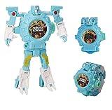 kavie Kids Transformer Projection Watch Deformation Robot Transformers Digital Watch, Boys Cartoon Hero Amazing Watches, Girls Learning Gifts-Blue
