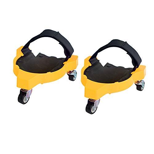 Cozyhoma Rodilleras enrollables, rodilleras flexibles deslizantes con ruedas...