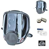 15 in1 Full Face Respirator Widely Used in Paint Sprayer, Chemical,Woodworking,Dust Protector,Medium