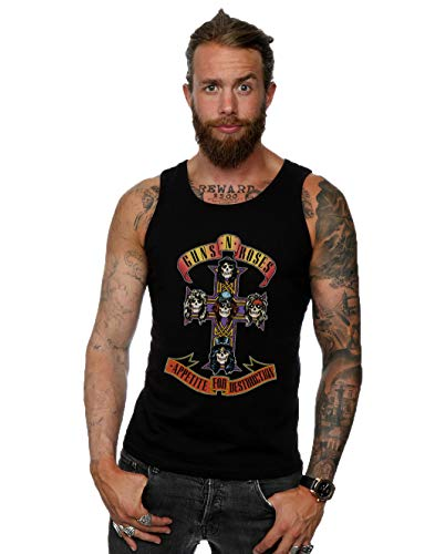 Men's Guns N Roses Appetite For Destruction Vest Top, S to XXL