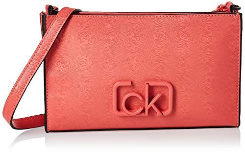 Calvin Klein Ck Signature Ew Crossbody - Borse a tracolla Donna, Rosso (Coral), 1x1x1 cm (W x H L)