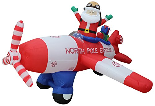 Best inflatable christmas decorations santa flying for 2020