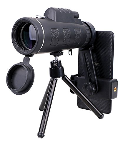 YoungLove High Power Monocular Telescope Waterproof Fogproof Scope Telescope with Quick Smartphone Adapter and Tripod