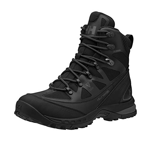 Helly-Hansen Mens Odin Primaloft High Top Waterproof Hiking Boot, 990 Black/Charcoal/Gunmetal, 12
