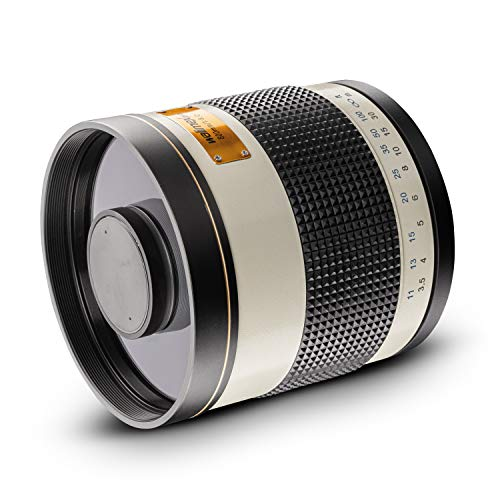 Walimex Pro 800mm 1:8,0 DSLR-Spiegelobjektiv für Canon RF Objektivbajonett weiß (für Vollformat Sensor gerechnet, Filterdurchmesser inkl. Schutzdeckel)
