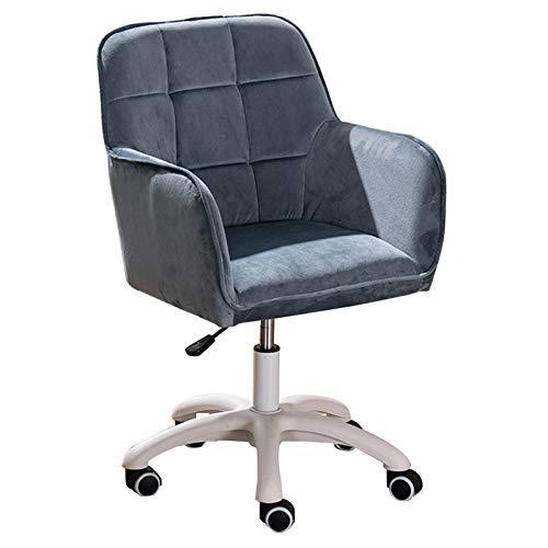 Sedia Da Ufficio Sedia Da Ufficio In Tessuto Di Velluto, Sedia Ergonomica Per Computer Girevole E Sedia Da Studio Regolabile In Altezza Azzurro