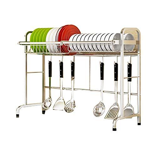 YLCJ Droogrek boven de dubbele wastafel multifunctionele keukenlade (afmetingen: 27x84x61cm)