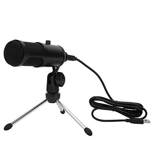 130 dB Computermikrofon, USB-Mikrofon mit Lautstärkeregler, 20 Hz bis 20 kHz für Live-Streaming-Plattform-Apps für Unterhaltungsspiele für Karaoke