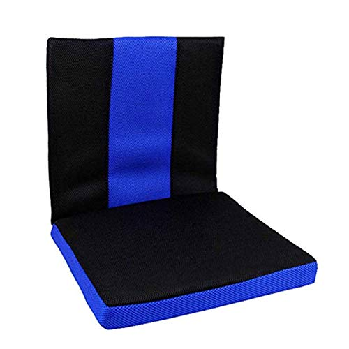 YAOBAO Rollstuhlkissen Anti-Dekubitus-Kissen, Rückenlehne und Sitzpolster für Rückenschmerzen Linderung von Ischias- und Steißbeinschmerzen Körperstütze (blau)